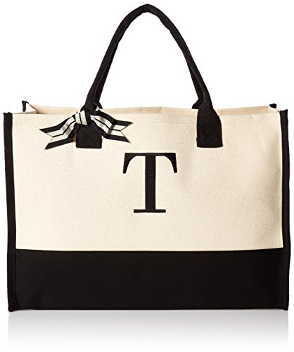 Mud Pie 501118 T-Initial Canvas Tote]()