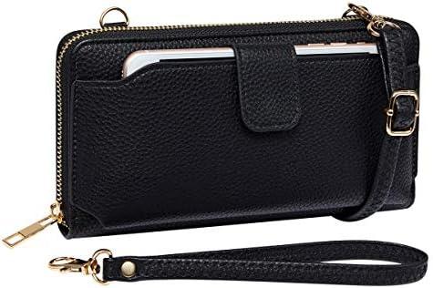 Womens Wristlet Crossbody Cellphone Handbag product image