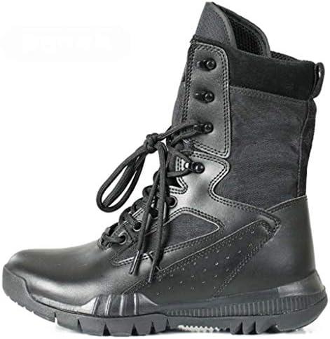 軍事戦術的なブーツ迷彩高いアクリルヘルプレースアップスタイルの登山靴快適な滑り止め耐摩耗耐久性に優れたラバーソール (色 : 黒, サイズ : 28 CM)