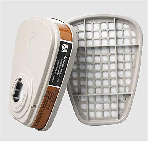 (Ship from USA!! HSada Organic Vapor/Acid Gas Cartridge/Filter for 3M 7502 6200 Gas Mask - Respiratory Protection - Pack of 2)