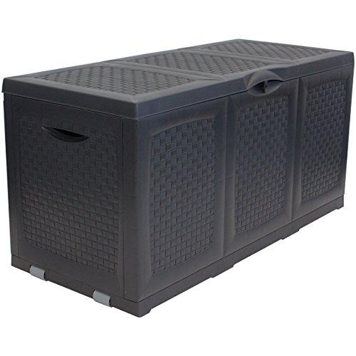 Kunststoff Auflagenbox - Maße (LxBxH): ca. 120 x 52 x 60cm - Abschließbar - mit Rollen - 380 Liter
