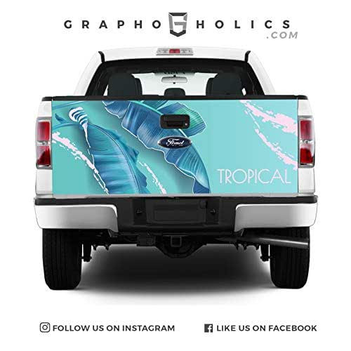 Leaf it Pick-Up Truck Tailgate Wraps Blue
