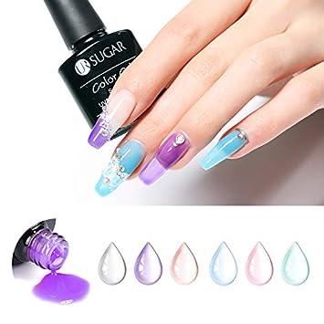 Amazon.com : UR SUGAR 7.5ml Opal Jelly Gel Nail Polish Set Candy ...