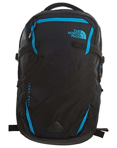 The North Face Iron Peak Backpack, Tnf Black/Hyper Blue, One Size (One Back Pocket)