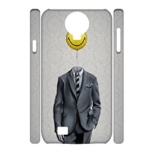 3D Dustin Mr. Smiley ) Samsung Galaxy S4 Cases, {White}
