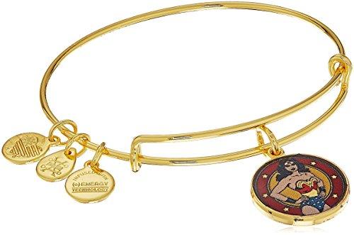 Price comparison product image Alex and Ani Wonder Woman Shiny Gold Bangle Bracelet