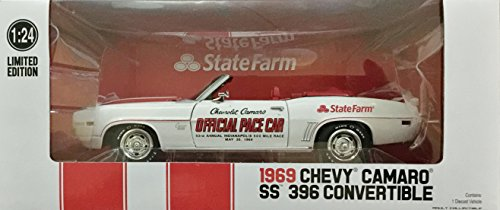 GREENLIGHT 1969 CAMARO SS 396 CONVERTIBLE INDY 500 PACE CAR 1:24 STATE FARM