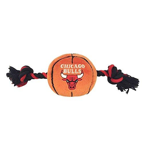NBA Chicago Bulls Plush Basketball Pet Rope Squeak Toy