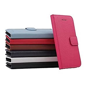 ZXC Special Lichee Design Magnetic Buckle Full Body Cover with Stand and Card Slot for iPhone 6 Plus (Assorted Colors) , Red
