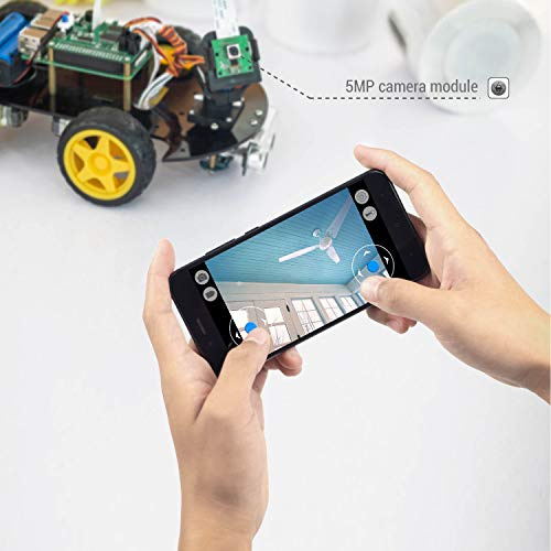 UCTRONICS Robot Car Kit for Raspberry Pi - Real Time Image and Video, Line Tracking, Obstacle Avoidance with Camera Module, Line Follower, Ultrasonic Sensor and App Control by UCTRONICS (Image #2)