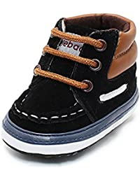 Infant Toddler Baby Lace Up Soft Sole High-top Suede Warm Sneakers Snow Boots