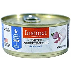 Instinct Limited Ingredient Diet Grain Free Real Turkey Recipe Natural Wet Canned Cat Food By Nature'S Variety, 5.5 Oz. Cans (Case Of 12)