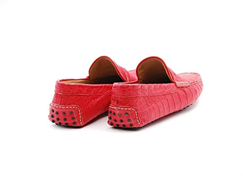 Sutor Manteau Lassi Chaussures Basses En Caïman En Cuir Rouge