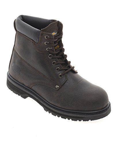 Dickies Cleveland Super Safety Boot UK Size 11 Dark Brown Greasy Leather wA5a1QM10Y