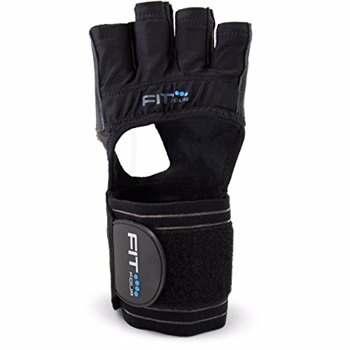 The F4X Spartan - Full Leather Palm | Fit Four Callus Guard WOD Workout Gloves for Weight Lifting & Cross Training Athletes (Leather, - Dallas Careers Sports
