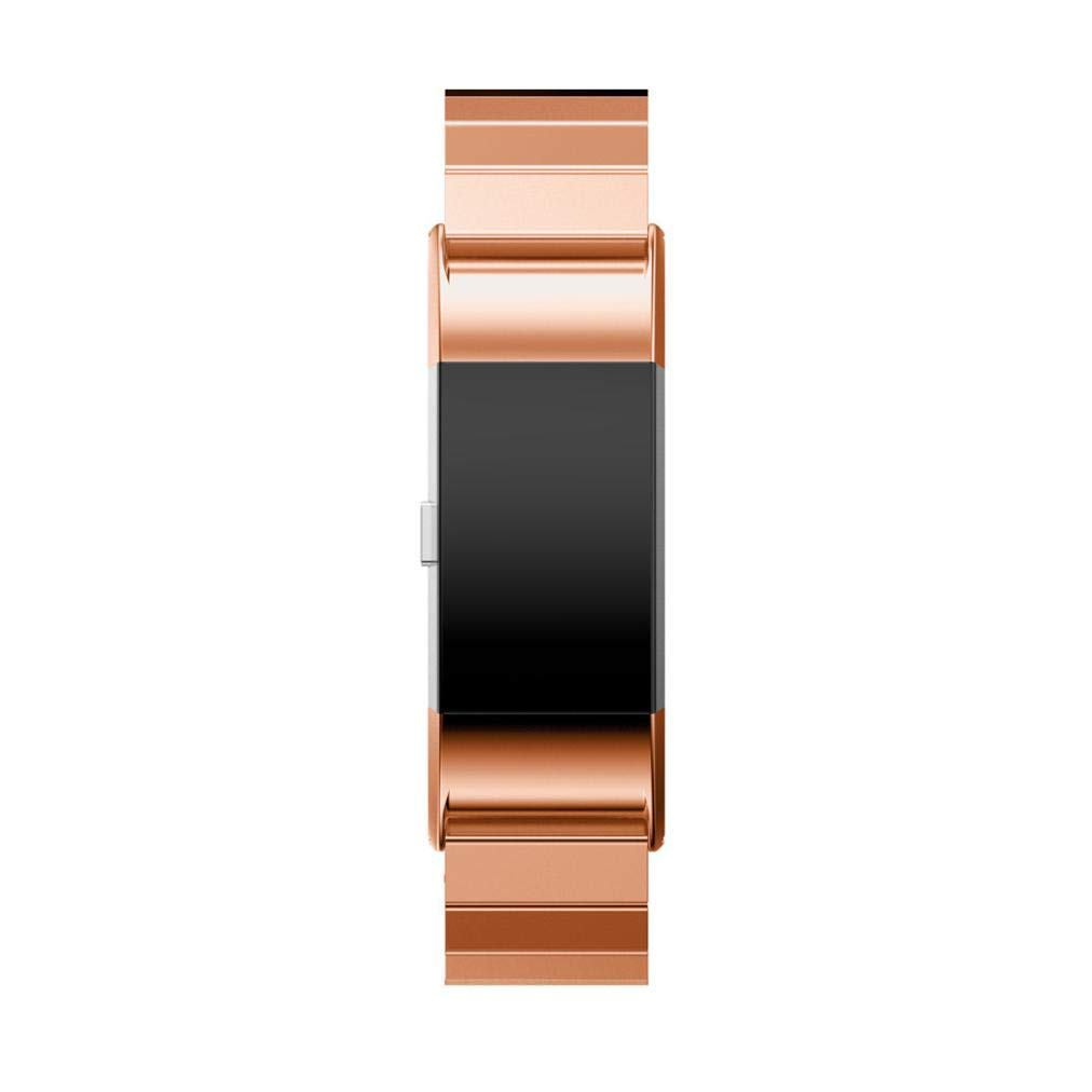 Wristband Watch Strap For Fitbit Charge 2,Saying Brand New Genuine Stainless Steel Bracelet Smart Watch Band Strap (Rose Gold)