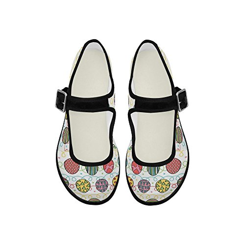 Interestprint Womens Comfort Mary Jane Flats Casual Scarpe Da Passeggio Multi 3
