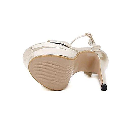 Alto Scarpe Summer Tacco in Sandals sexy Ms pittura Belle oro Hxvu56546 pelle in con wxBqX4Zn
