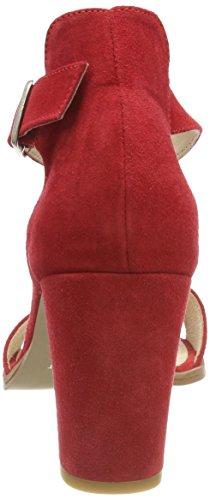 Pavement Silke, Sandali con Cinturino alla Caviglia Donna Rosso (Red Suede 324 324)