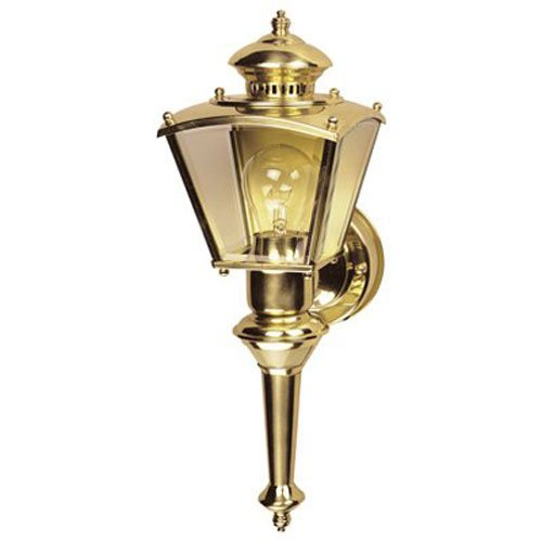 Heath Zenith HZ-4150-PB Motion-Activated Four-Sided Charleston Coach Light Polished Brass with Clear Glass  sc 1 st  Amazon.com & Charleston Lighting: Amazon.com