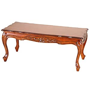 Carved wood coffee table kitchen dining for Coffee tables amazon