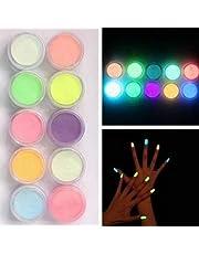 10 unidades de polvo de purpurina para uñas de Brussels08, para decoración de uñas,