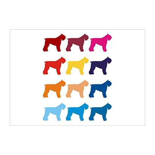 Idakoos Colorful Bouvier Des Flandres Sticker Pack x4 6