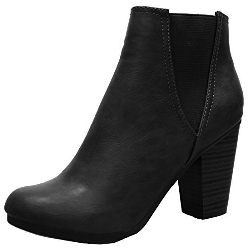 Breckelle's Women's Gail-27 Ankle Boot Black 9