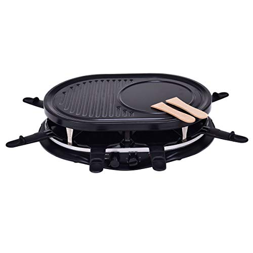 Dayanaprincess 5.7 lbs Black Oval Non Stick Electric Grill New Modern Useful Long Lasting Home Indoor Kitchen Portable Indicator Light BBQ Iron