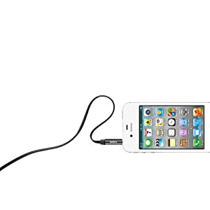 Belkin MiXiT Tangle-Free Aux/Auxiliary Cable, 3 Feet (Black)