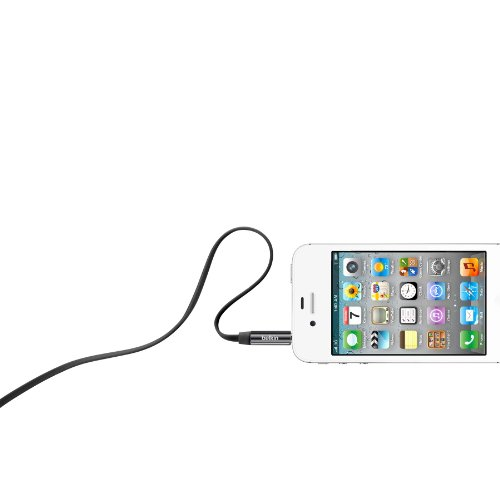Belkin MiXiT Tangle-Free Aux / Auxiliary Cable, 3 Feet (Black)