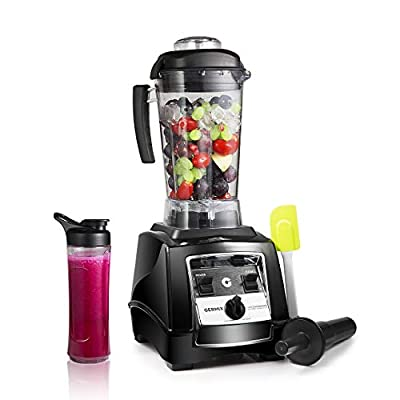 GERMIX 8 Blade Professional 64oz Countertop Blender with High Power Base 10-Speed Setting and BPA-Free Pitcher for Dough, Smoothies, Chopping, Blending, Black