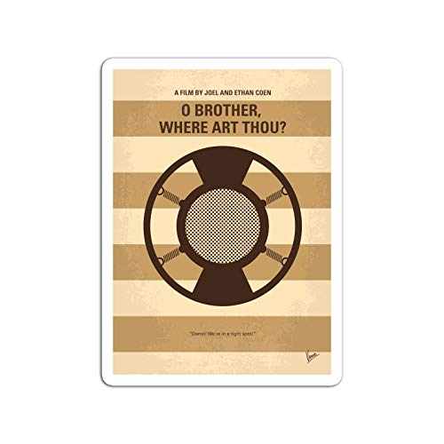 BreathNenStore Sticker Motion Picture No055 My O Brother Where Art Thou Minimal Movie Movies Video Film (3
