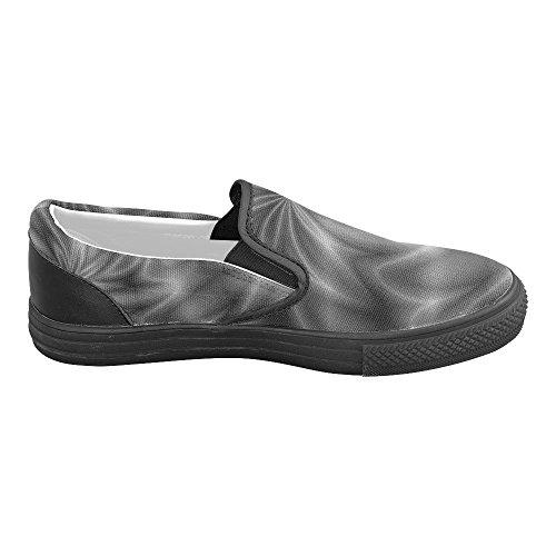 Canvas on Swirl Mens Slip Story Lilac Shoes Shiny D Custom HwTvSRxq
