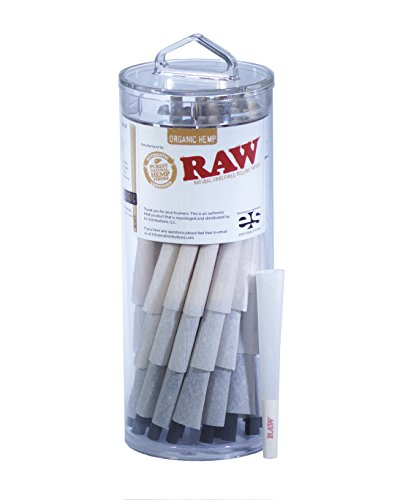 RAW Organic 1 1/4 Pure Hemp Pre-Rolled Cones With Filter (75 pack) (Raw Cones 1 1 4 compare prices)