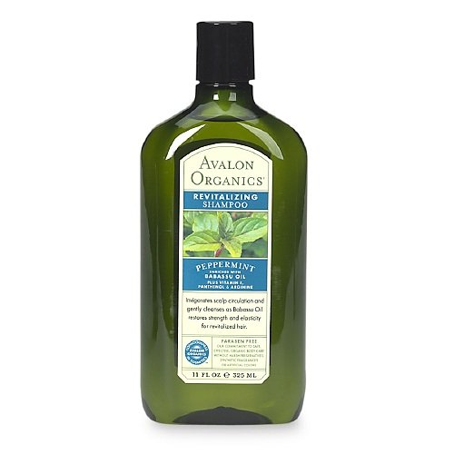 Avalon Organics Revitalizing Shampoo Peppermint, 11 Ounce (Pack of 6) (Avalon Bath Organics Peppermint)