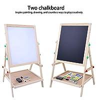 GOTOTOP Kids Easel, 2 in 1 Easel for Kids Double Board Flip-Over Children