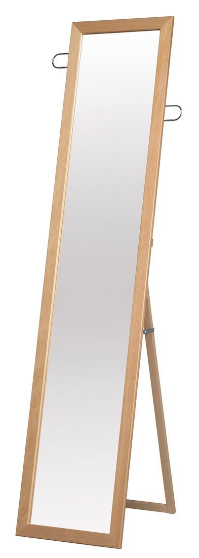 永井興産 フック付スタンドミラー ナチュラル 日本製 高さ約160cm 小物を掛けられるフックは可動式SEN-021 B00FPDVJE8ナチュラル