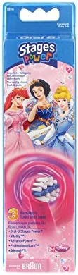 Oral-B Stages Power Princess - Replacement Brush Heads (1 pack = 3 pieces) Disney for kids! by Braun