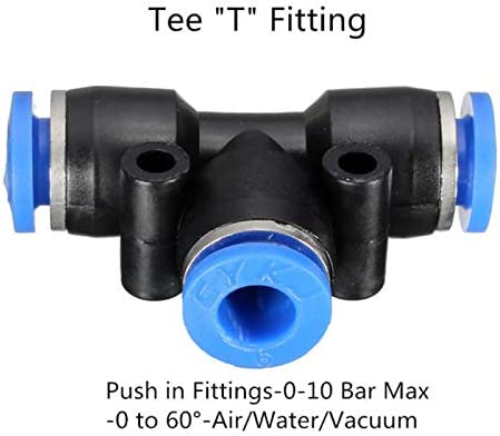 Pneumatic Tools SENRISE Pneumatic Connector 2PCS Elbow//Straight//Y-Type//T-Type//Reducing Air Tube Fitting for Quick Connection of Air Piping Straight Fitting 4mm