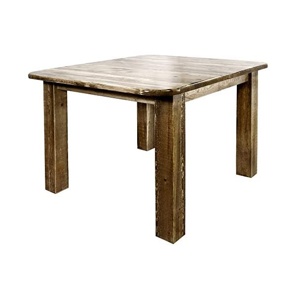 Montana Woodworks Homestead Collection 4-Post Dining Table, Square, Stain and Lacquer Finish