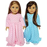 My Brittany's 2 Nightgowns for American Girl Dolls- Doll Clothes for 18 Inch Dolls