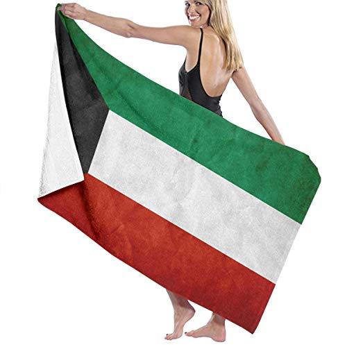 倉庫市民権オピエートビーチバスタオル バスタオル クウェート国旗 ビーチ用 海水浴 旅行用タオル 多用途 おしゃれ White