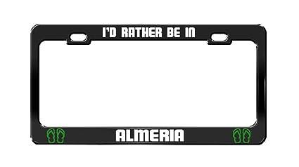 Amazon.com: Keliteu Id Rather BE in ALMERIA Spain Black ...