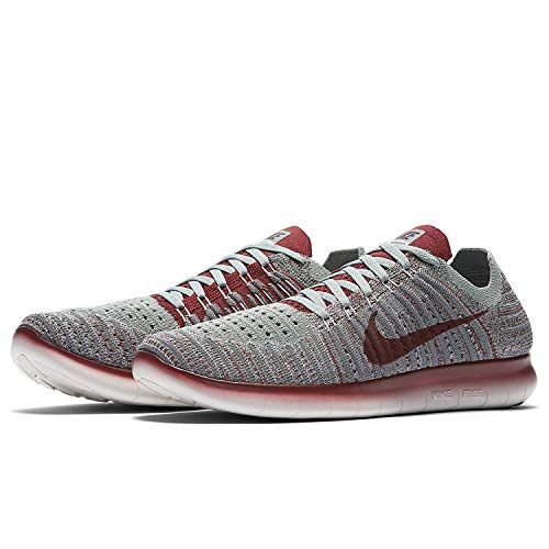 Nike Free Grey Flyknit Scarpe 006 Red da Cool Donna RN Grey Corsa Wmns Wolf Team 5rORxw5