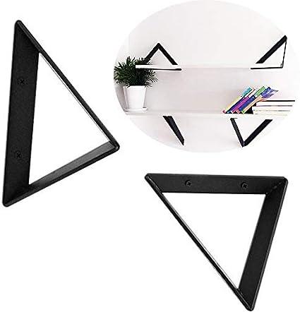 HAOT Soporte Estante Negro 2 Piezas, estantería Triangular de ...