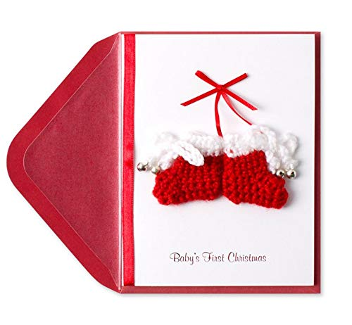 Papyrus Baby's 1st Christmas Booties Card -