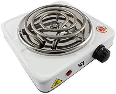 SFY Cocina eléctrica para Shisha cachimba - Hornillo para encender carbón - Placa de Fuego para cocinar - 1000W (Blanco): Amazon.es: Deportes y aire libre