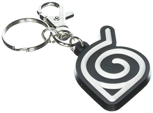 Naruto Shippuden Leaf Village Symbol Pac Keychain Miniature Novelty Toys,, (Naruto Symbol Keychain)