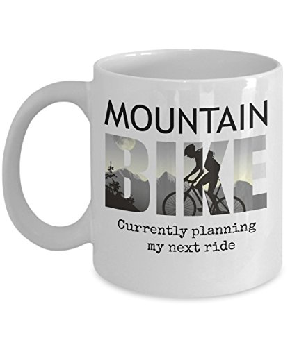Price comparison product image Mountain Bike Mug Funny Bicycle Quote Gift Coffee Cup for Biker who Love Biking the Mud Cycling on Trails Downhill Wearing Shorts Gloves and Helmet Shoes